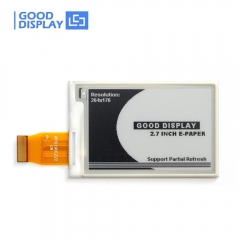 2.7 inch Black and white 4 Grayscale epaper display partial refresh 264x176 SPI e-ink screen