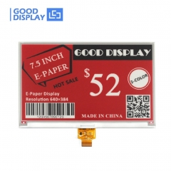 Large size red e-paper display 7.5 inch 3-Colors SPI interface e-ink screen module GDEW075Z09