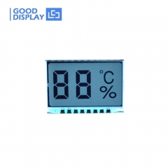 2 digits temperature humidity segment lcd display GDC21310