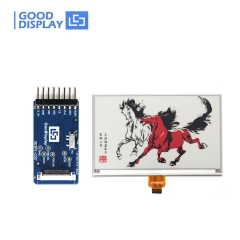 7.5 inch Large three colors red e-paper display higher resolution 800x480 GDEW075Z08 with connection board