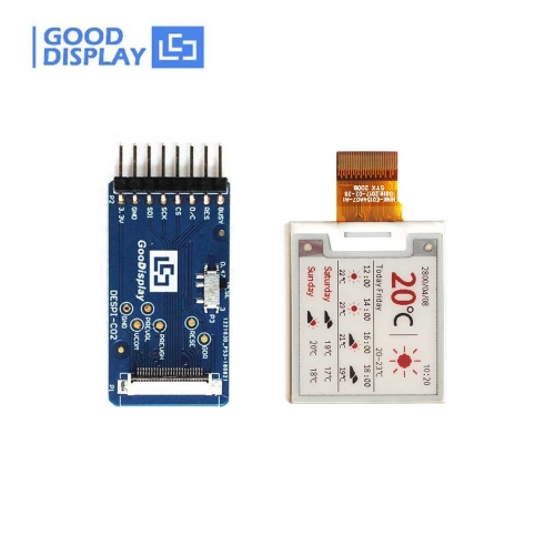 1.54 inch colorful red e-paper display panel with coonect adapter board, GDEH0154Z90+DESPI-C02