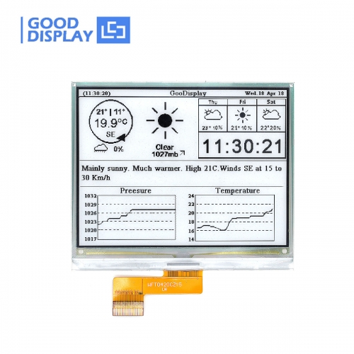 4.2 inch DES e-paper display module extended operating temperature, GDEW042M01