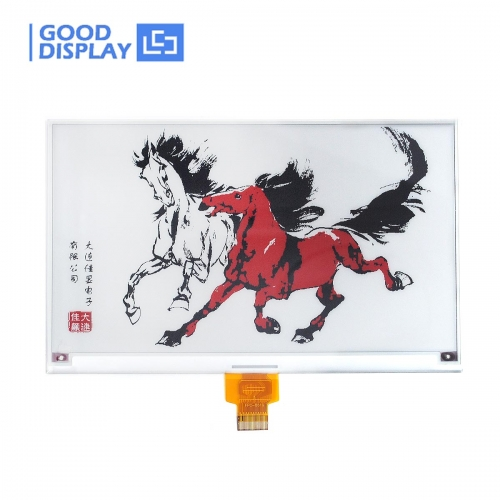 7.5 inch Large three colors red e-paper display higher resolution 800x480 GDEM075Z08